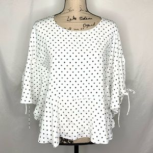 See by Chloe Top Floral Dot Cape Sleeve Womens 38